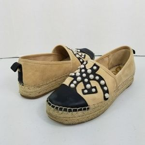 Sam Edelman Espadrilles Pearl & Leather Accents